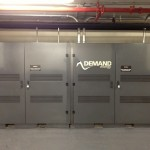 Part of a two megawatt-hour battery in the basement of a luxury high-rise in lower Manhattan.