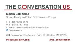 Conversation business card